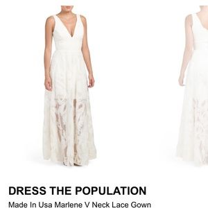 Dress the population Marlene Gown size xs
